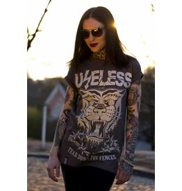 Useless Tear Down The Fences - grau - Unisex T-Shirt