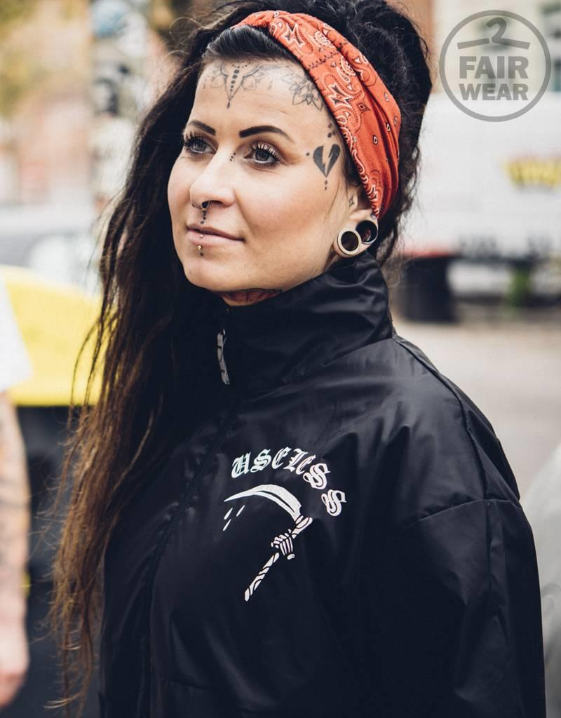 Useless Fuck the World - Unisex Windbreaker/Regenjacke - Fair Wear