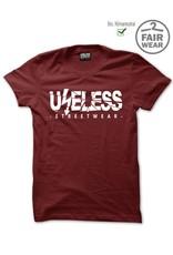 Useless Useless Streetwear Logo - Fairwear & Bio unisex T-Shirt - Maroon