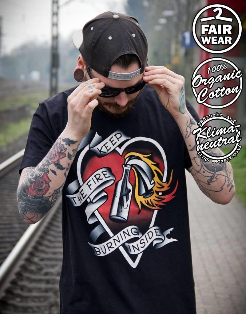 Useless Keep The Fire Burning Inside - Unisex T-Shirt, Fair & Bio