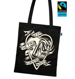 Useless Keep The Fire Burning Inside - Fairtrade Tasche schwarz