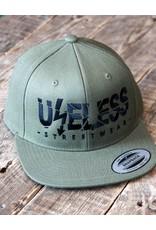 Useless Useless Snapback Cap, olive