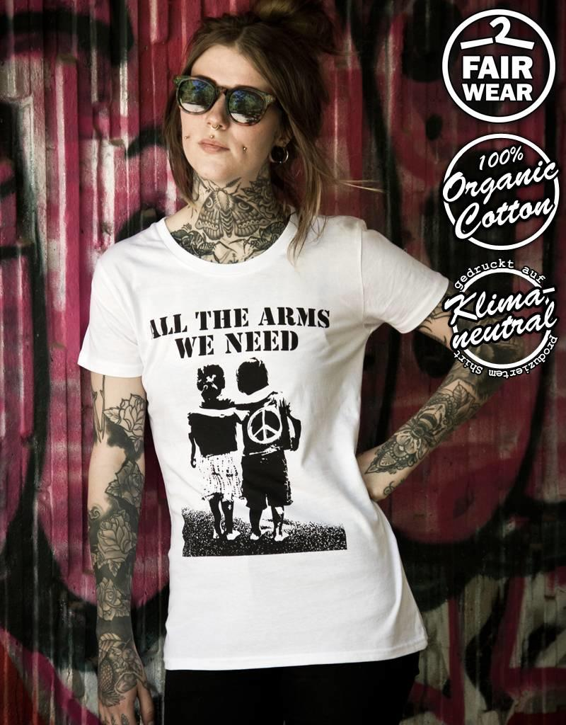 Useless All The Arms We Need - Fairwear Girlie weiß