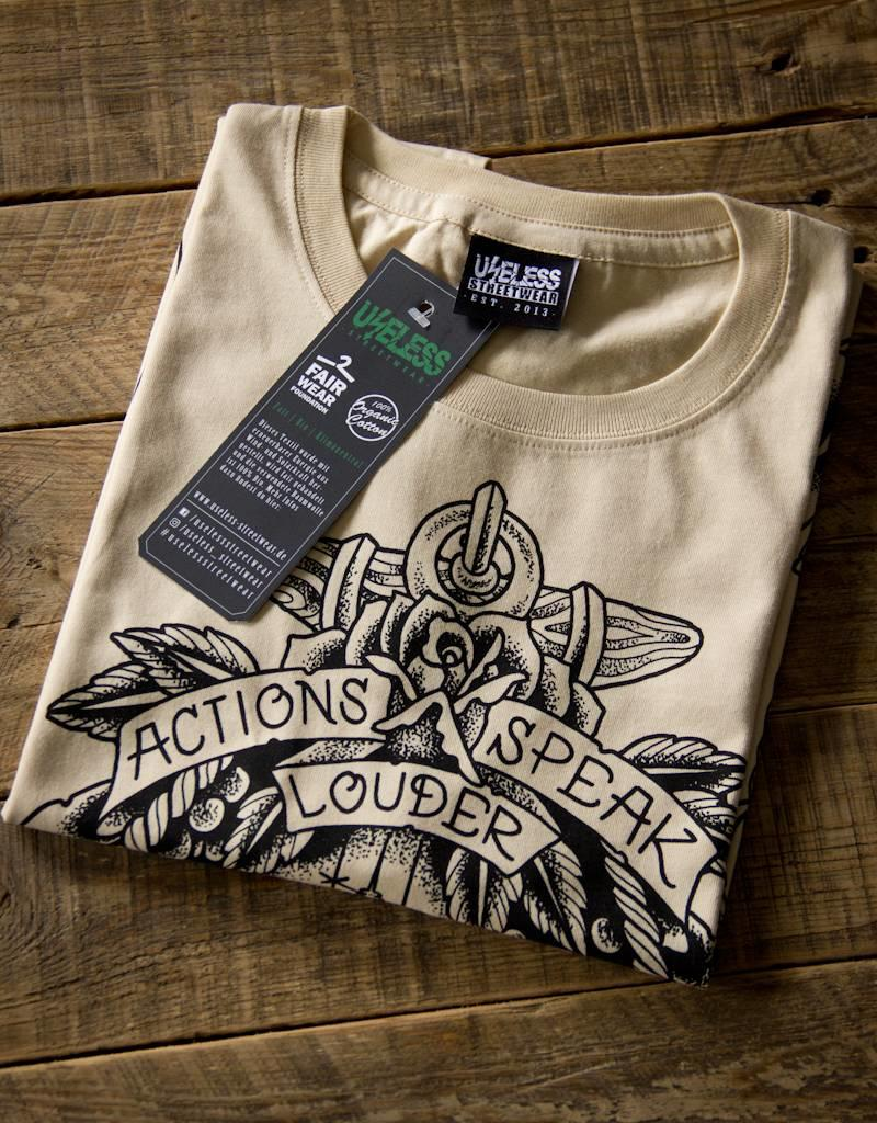 Useless Actions speak louder - Soli Shirt, camel - unisex