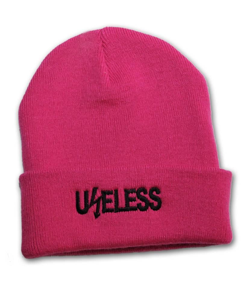 Useless Useless gesticktes Logo - Beanie pink