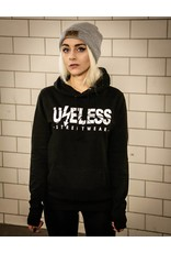 Useless Logo Girl Hoodie - schwarz