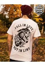 Fall In Love Not In Line - Unisex T-Shirt , weiß - Fairwear