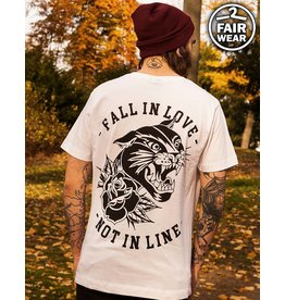 Fall In Love Not In Line - Unisex T-Shirt , weiß