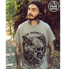 The Trouble Is - graues unisex T-Shirt
