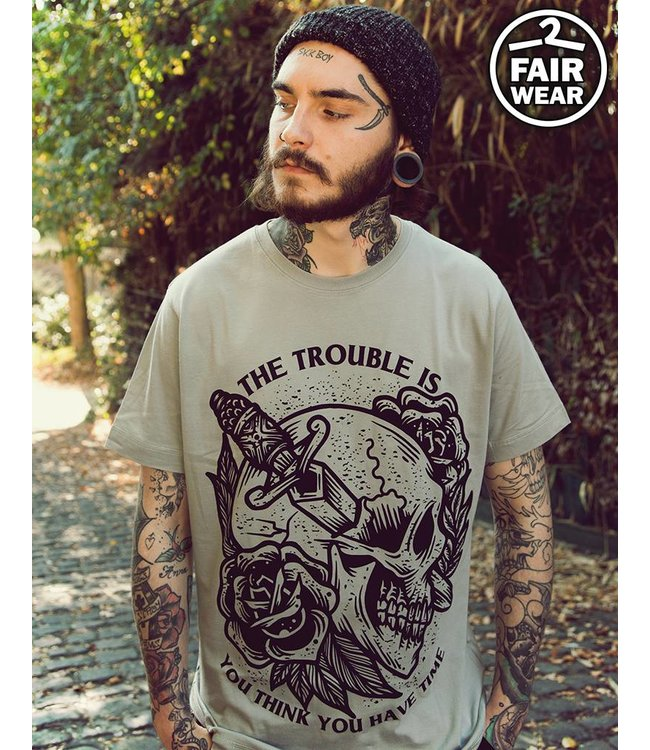 The Trouble Is - graues unisex T-Shirt  fair