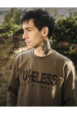 Useless Streetwear Logo Sweatshirt - oliv