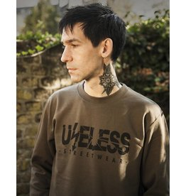 Useless Logo Sweatshirt - oliv