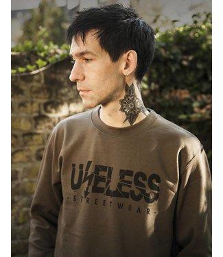 Useless Logo Sweatshirt - oliv