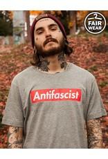 Antifascist - unisex T-Shirt, grau, Fairwear