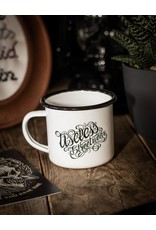Fall In Love - Not in Line - Emaille Tasse