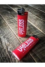 Useless Useless BIC Maxi Feuerzeug  rot