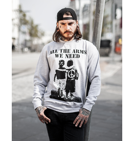 Useless All The Arms We Need - Unisex Sweatshirt grau