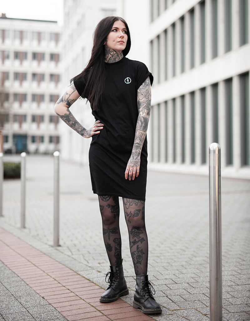 Useless Shirt-Kleid - Flash Logo schwarz