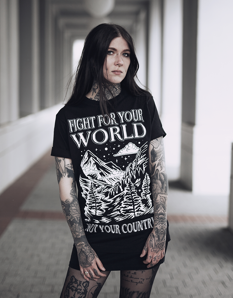 Useless Fight For Your World, Not Your Country - unisex T-Shirt, fair