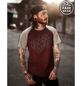 Useless Tattoo Logo College unisex T-Shirt, fair - burgundy/grau