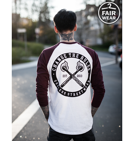 Useless Change The Rules - Longsleeve burgundy /white, fair