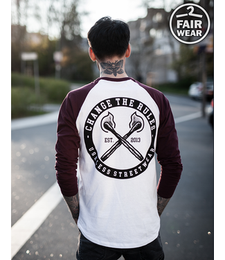 Change The Rules - Longsleeve burgundy /white, fair