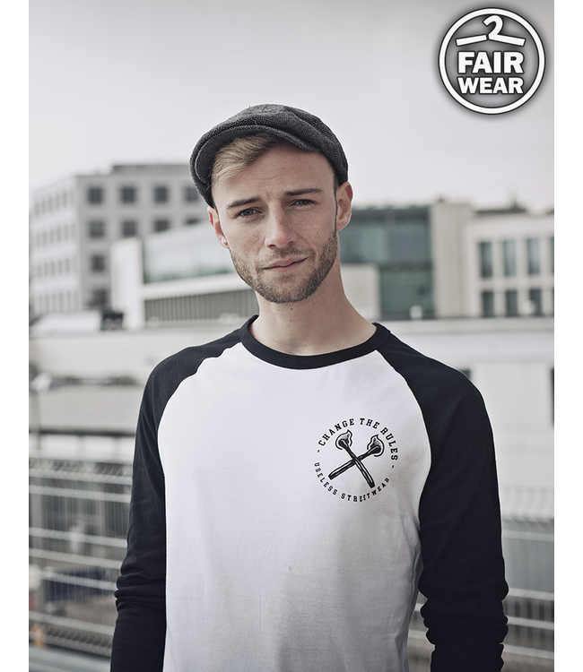 Change The Rules - Longsleeve black/white - Fairwear