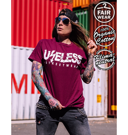 Useless Logo - Unisex T-Shirt burgundy Bio & fair