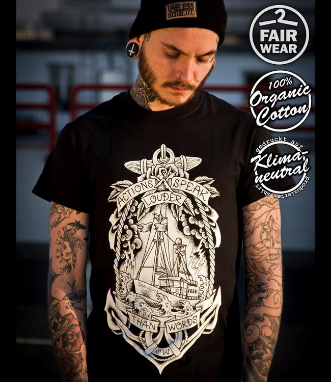 Actions speak louder - Soli Shirt, schwarz - fair