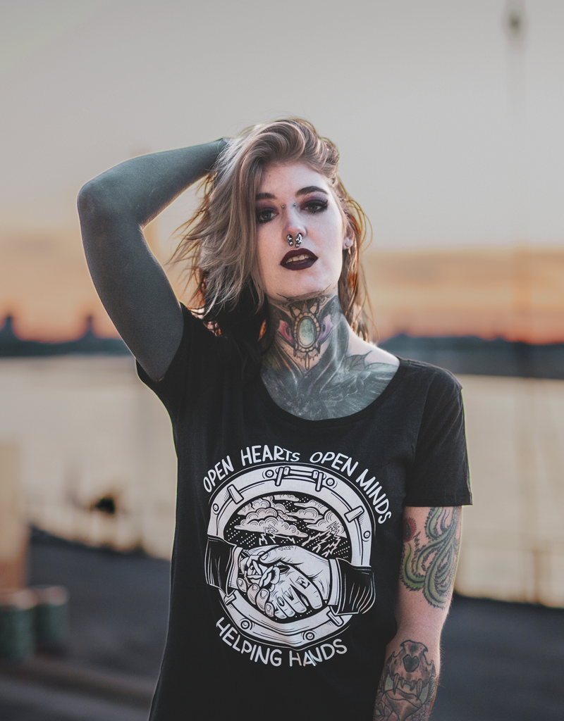 Useless Open Hearts - Girl Shirt bio & fair