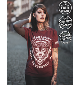 Useless Be Different - unisex Shirt burgundy bio & fair