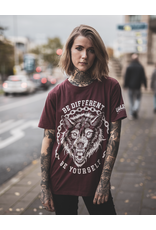 Useless Be Different - unisex T-Shirt burgundy bio & fair