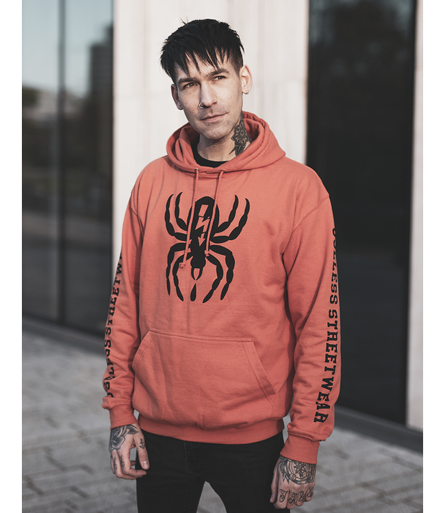 Spider - Hoodie, rust orange