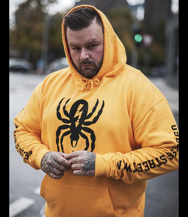 Spider - Hoodie, goldgelb