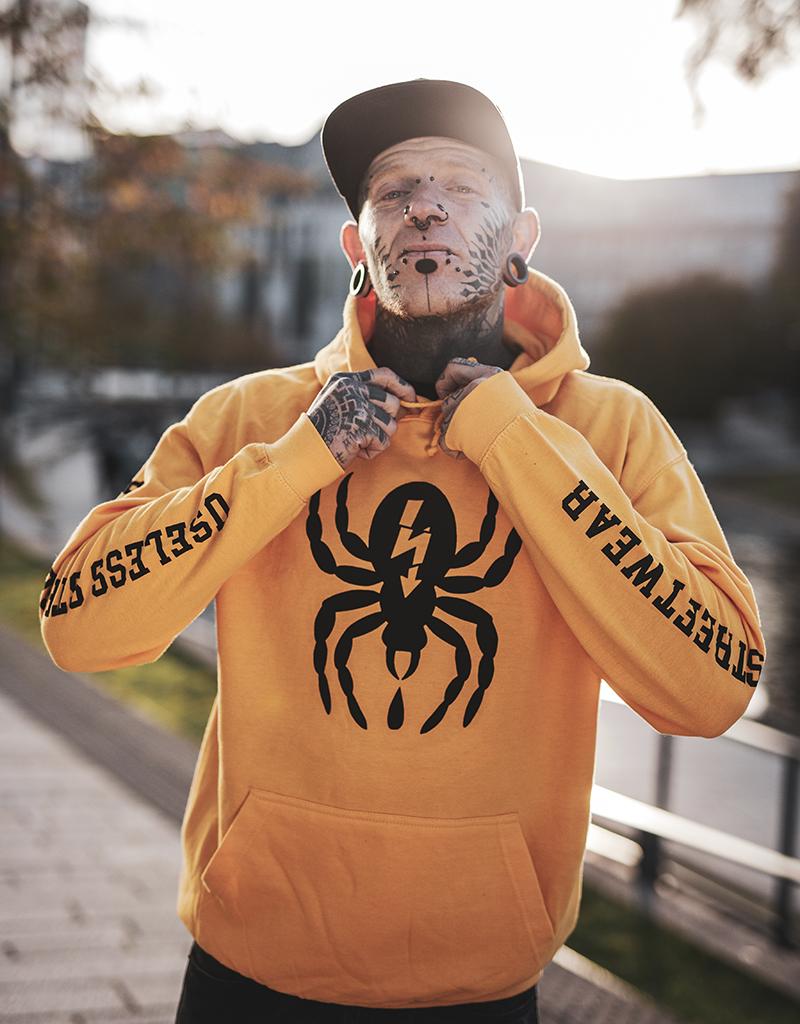 Useless Spider - Hoodie, goldgelb