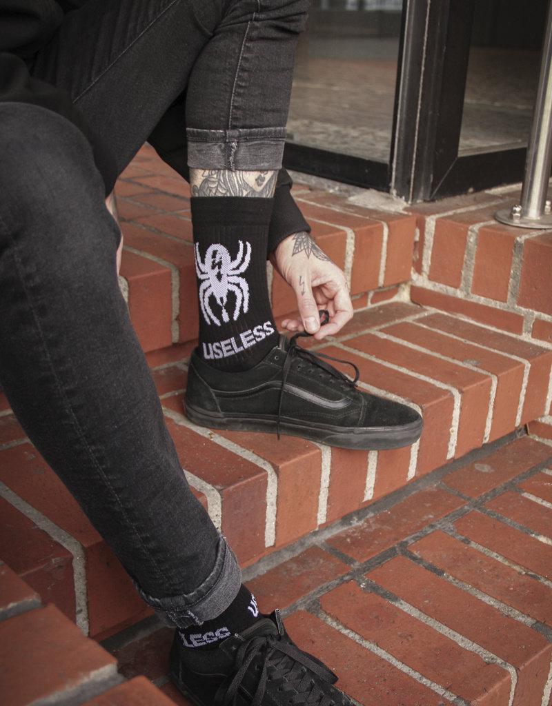 Useless Spider Socks - schwarz