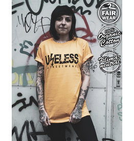 Useless Logo - Unisex T-Shirt goldgelb, Bio & fair