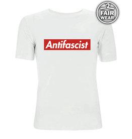 Antifascist - weiß unisex T-Shirt, Fairwear