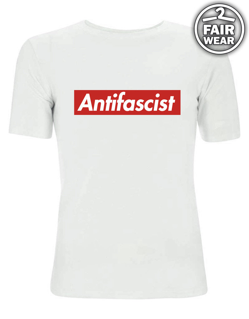 Antifascist - weiß unisex T-Shirt, Fairwear