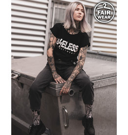 Useless Logo Girl Shirt - schwarz, fair