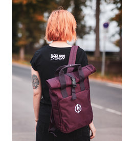 Useless Roll-Top Backpack - Flash Logo Burgundy