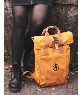 Roll-Top Backpack - Flash Logo Mustard