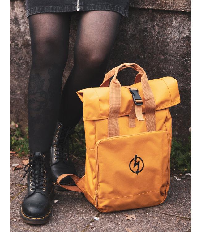 Roll-Top Backpack - Flash Logo Mustard Rucksack