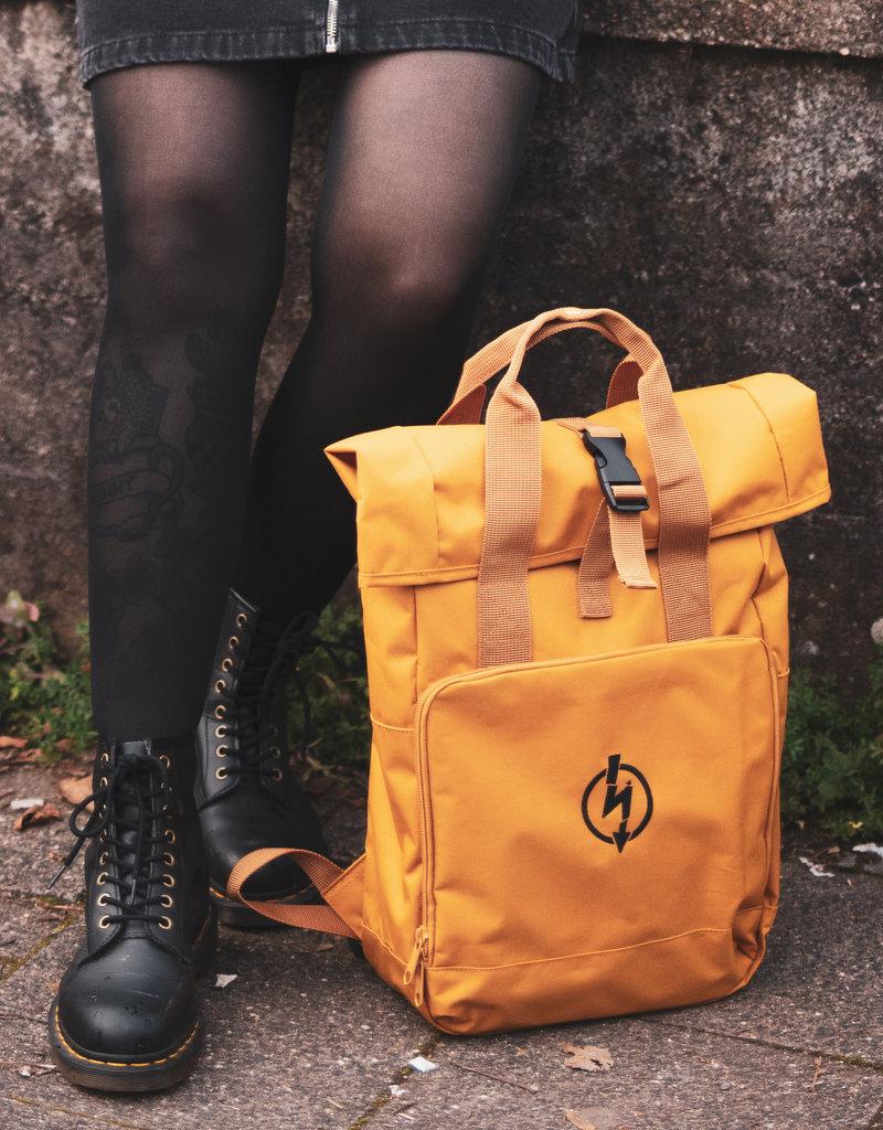 Useless Roll-Top Backpack - Flash Logo Mustard
