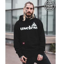 Useless Let it burn - Fair unisex Hoodie - schwarz