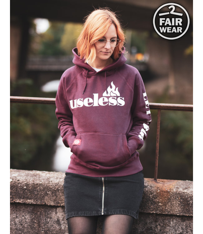 Let it burn - Fair unisex Hoodie - burgundy