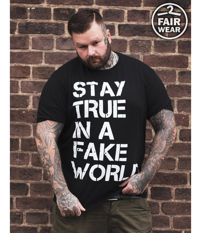 Stay True In A Fake World - unisex T-Shirt, fair