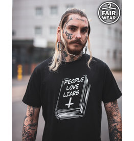 Useless People Love Liars - unisex T-Shirt, fair