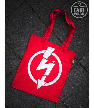Flash Logo - Rote Tasche, bio & fair