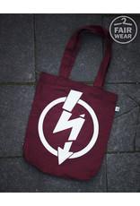 Useless Flash Logo - Burgundy Tasche, bio & fair